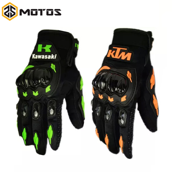 ZS MOTOS KTM Motorcycle bike gloves retro kawasaki racing gloves Men's Motocross full finger gloves M/L/XL/XXL Wholesale retail
