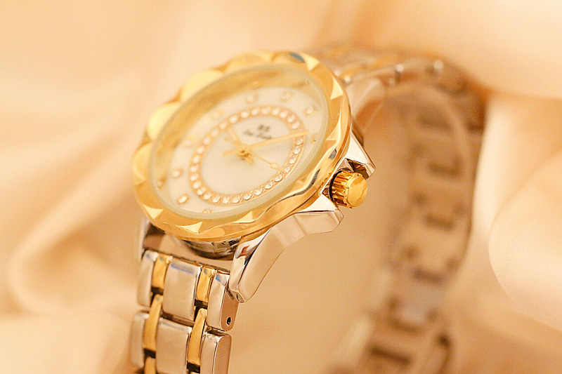 BS известный бренд золотистого и серебристого цвета женские часы Женское платье часы Reloj Mujer 2019 модные повседневные часы для девушек Zegarek Damski