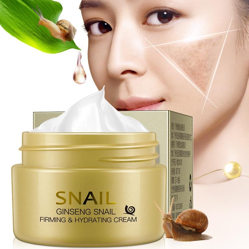 Snail Hyaluronic Acid Cream Whitening Face Cream Anti Wrinkle Anti Aging Cream j Skin Care Acne & Blemish Treatments