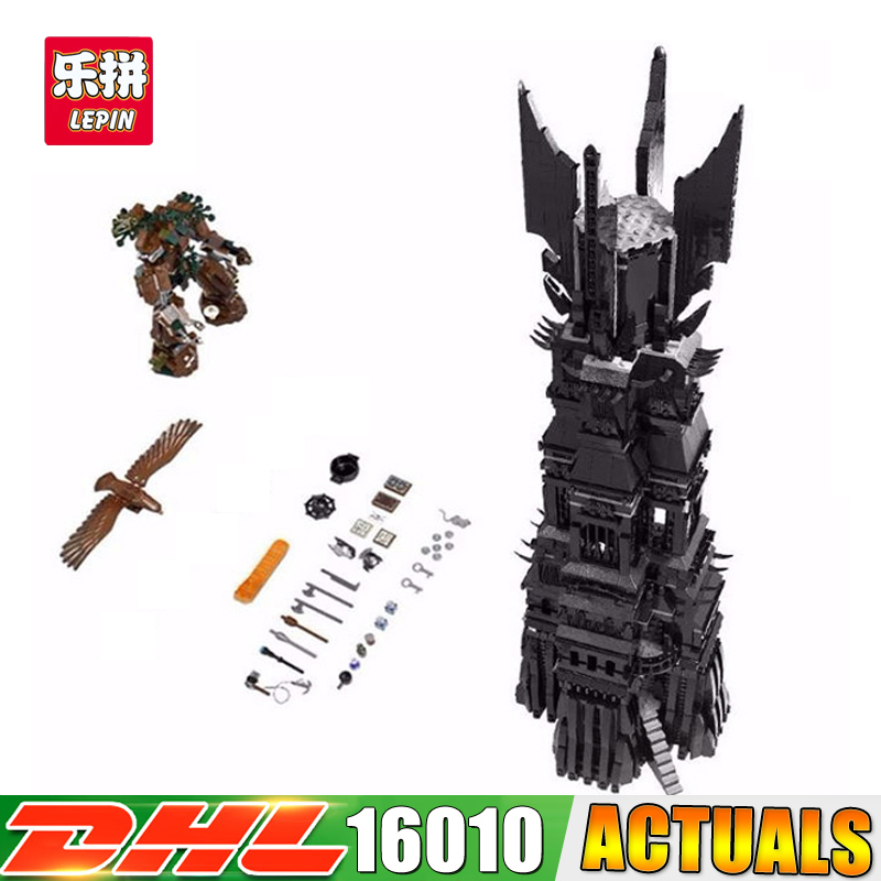 DHL 2017 New LEPIN 16010 2430Pcs Lord of the Rings The Tower of Orthanc Model Building Kits Blocks Bricks Toys Gift 10237 hot sale the hobbit lord of the rings mordor orc uruk hai aragorn rohan mirkwood elf building blocks bricks children gift toys