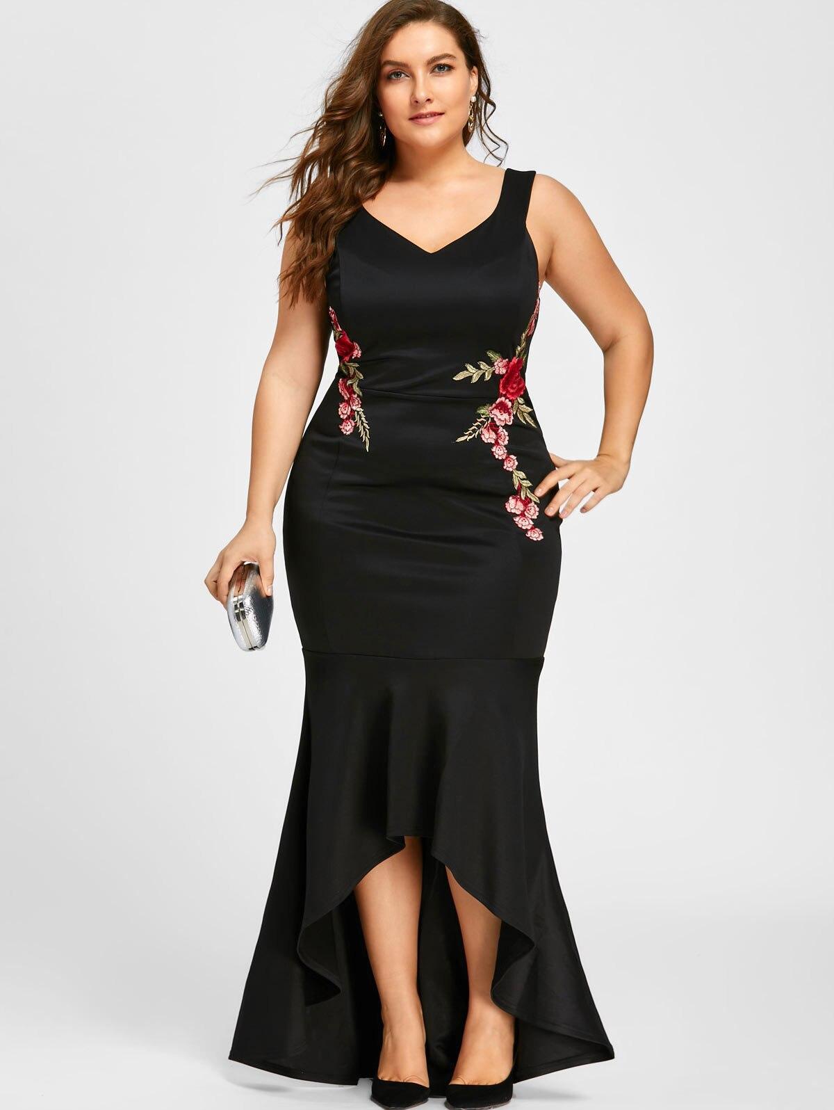 Vestidos De Fiesta Sirena Plus Tamano De Noche Mujer Elegantes Talla Grande 2020 Ebay