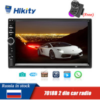 Car Radio 2 Din Mp5 Player Bluetooth Handsfree Touch Screen Auto Radio Reverse Image Support Rear View Camera Mirrorlink 7018B