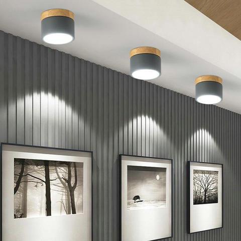 7 w nordic levaram luzes de teto com abajur de metal para 220 v corredor