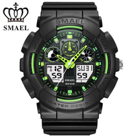 SMAEL Men Sports Watches Digital Double Time Chronograph Watch Clock Watwrproof Week Display Wristwatches Relogio Masculino 1027 masculino masculinos relogios masculino watch -