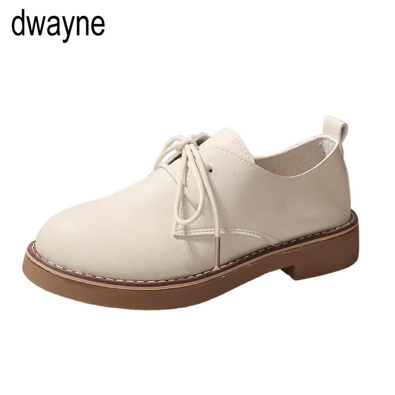 2019 Spring women sneakers oxford shoes flats shoes women   leather     suede   lace up boat shoes round toe flats moccasins ghn78