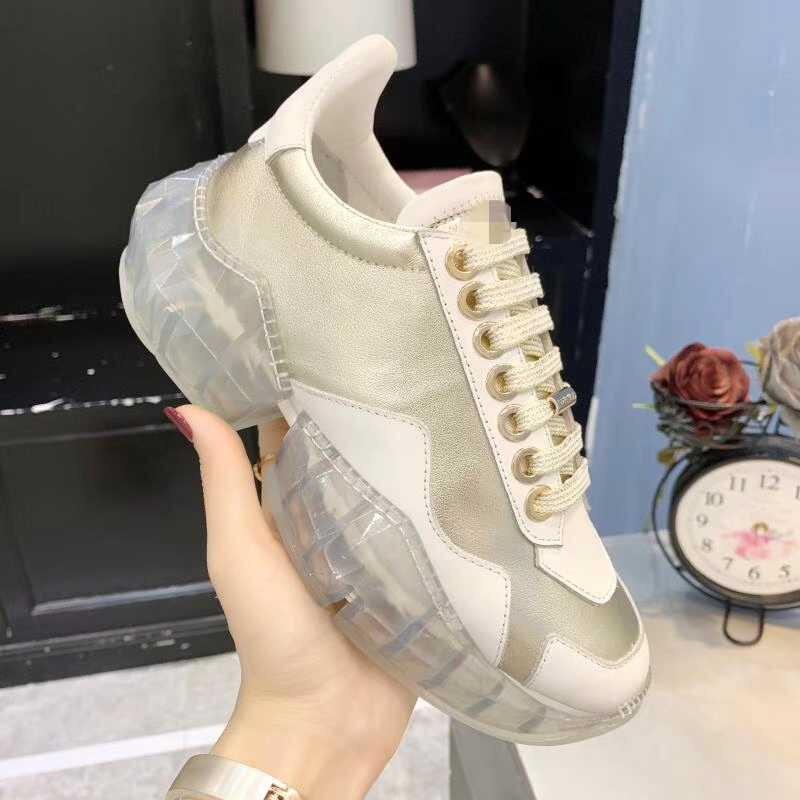 Fashional Silvery De Color Femmes 2019 Femelle En Véritable Cuir Designer Couleur Marque Chaussures Luxe Nouvelle Snearker crystal Confortable Mix gold Modèle Arrivée mOv08wNn