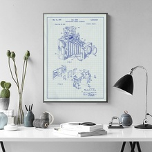 Blueprint poster promotion shop for promotional blueprint poster on photographic camera blueprint graphic vintage wall art paint wall decor canvas prints canvas art poster oil paintings no frame malvernweather Images