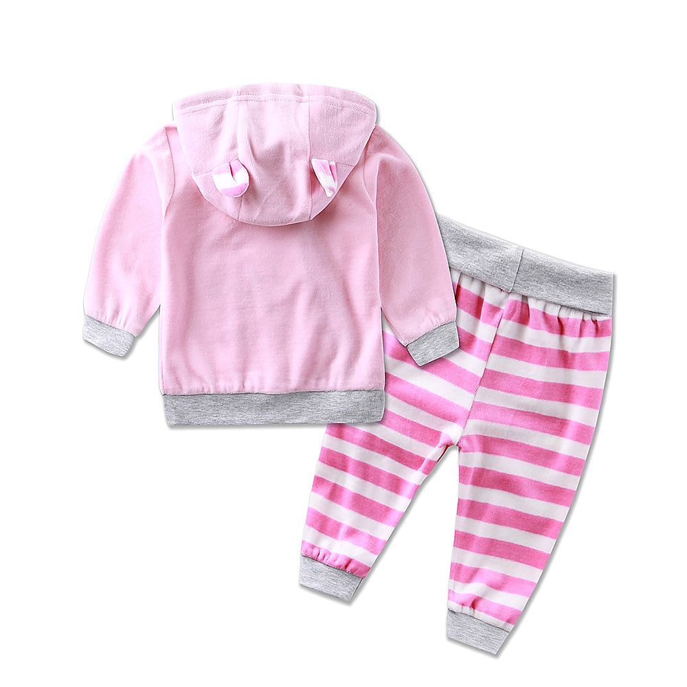 Image 5 - 2019 new hot children sports girls boys set velvet casual winter spring warm hooded zipper long sleeve outfits baby kid clothes-in Clothing Sets from Mother & Kids
