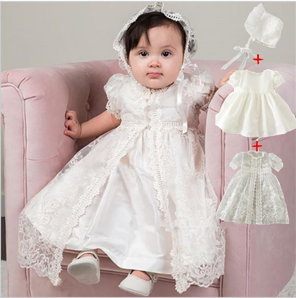 62cd48e70 Bautismal 3 unids set bautismo para niñas 0 24 meses bautismo vestido de  bautizo