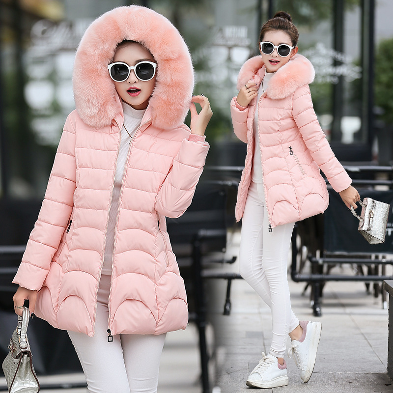 Winter Warm Casual Elegant Women Coats Ladies Winter Clothes Long   Parkas   Outwear Female Fur Hooded Coat Women Jackets 2018 MDR11