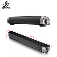 BONWAYE Portable Bluetooth Speaker Receiver Parlantes Blutooth 3D Surround Subwoofer Soundbar Boombox for TV and Laptop and PC