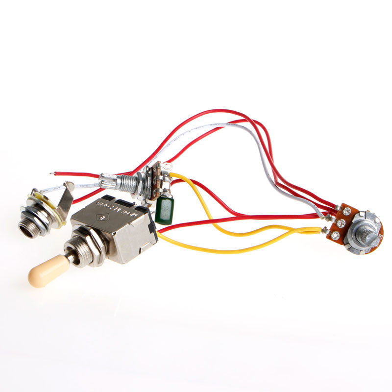 guitar wiring harness 3way lp 2 humbucker toggle switch 1v1t 500k durable in guitar parts. Black Bedroom Furniture Sets. Home Design Ideas