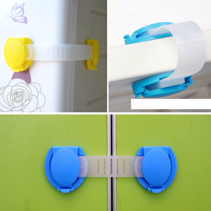 10pcs/set Baby safety lock plastic lock for baby safety Safety Lock baby security lock Cabinet Door Drawers furniture Toilet