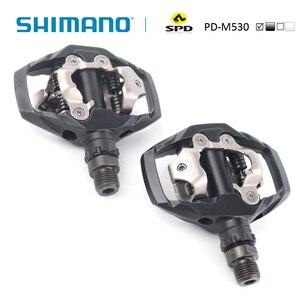 Image 2 - SHIMANO PD M530 SPD דוושת MTB הרי XC קליפלס אופני כולל SM SH51 סוליות אידיאלי עבור שביל ואופני הרים סיורים דוושה