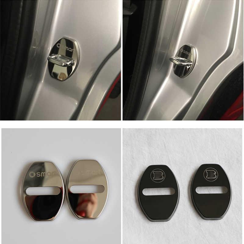 2Pcs Stainless steel door lock cover For 1998 2007 Smart