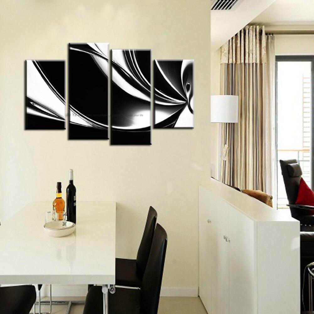 Muya muro dipinto su tela quadri moderni in bianco e nero su ...