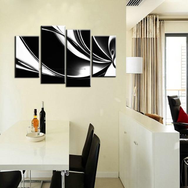 Muya muro dipinto su tela quadri moderni in bianco e nero su tela a ...