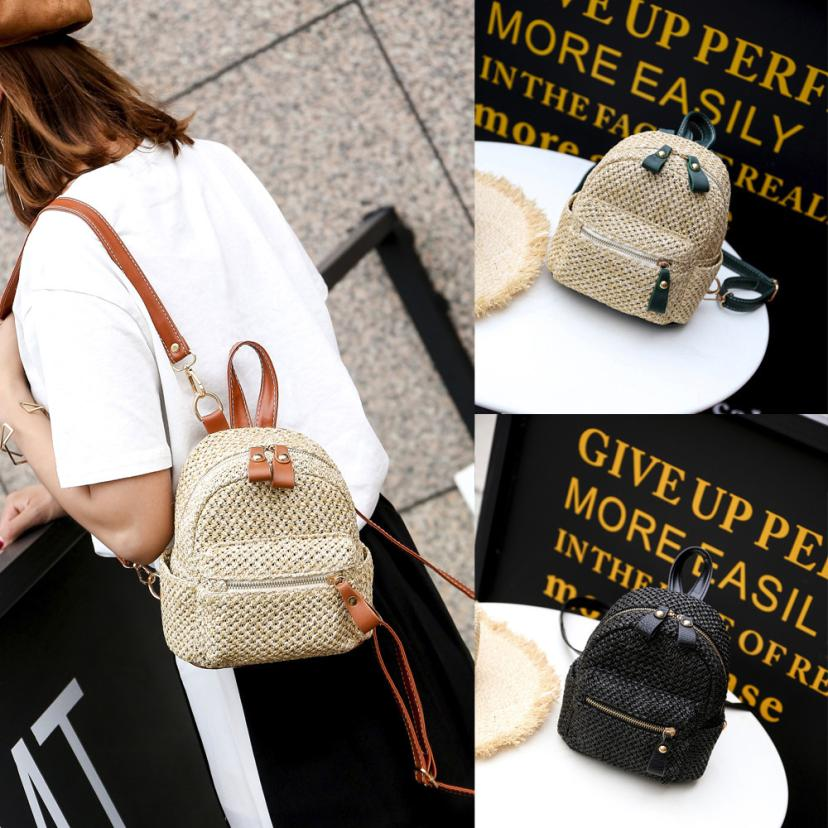 maison Backpacks new high quality National Fashion Girl Weave Bags Mini Backpack Travel School Bag backpack women 2018MA3
