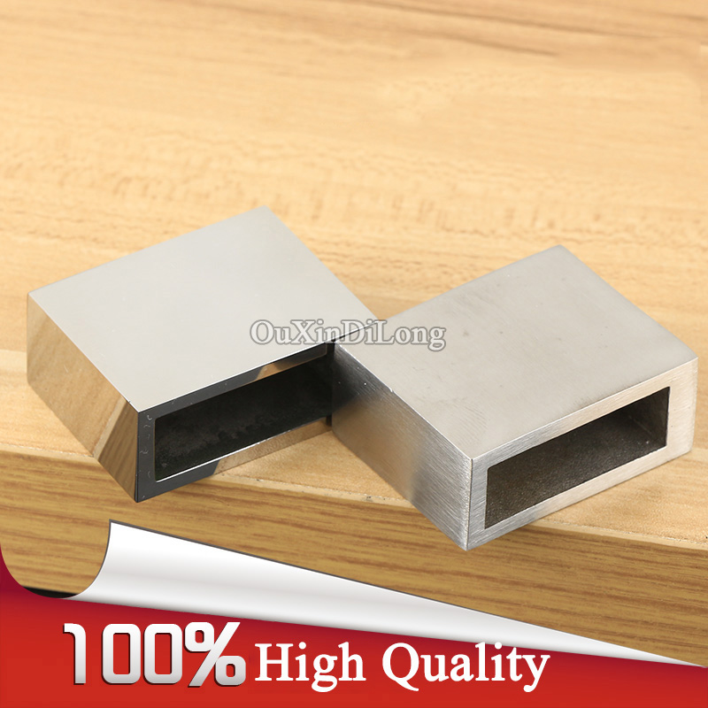 2PCS 304 Stainless Steel Bathroom Shower Screen Door Top Stopper Brackets Flange Seat 10*30mm Square Pipe to Wall Fixed Holder selling door magnetic stopper suction stainless steel alloy wall top 4 color