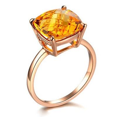 Luxury Citrine Wedding Jewelry Sets for Bridal 14K Rose Gold