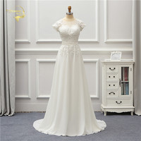Jeanne Love Chiffon Wedding Dress 2019 Short Applique Lace Robe De Mariage JLOV75996 Vestido De Noiva Brida Dresses Wedding Gown