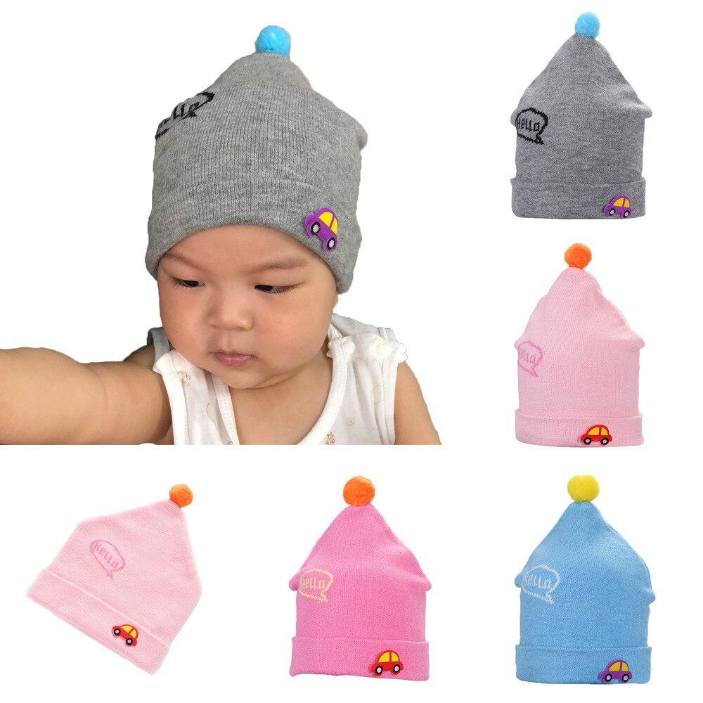 MUQGEW Infantil Children's Baby Baggy Warm Crochet Comfortable Cotton Knit Hats Knit Crochet Cap Hat Winter Hat
