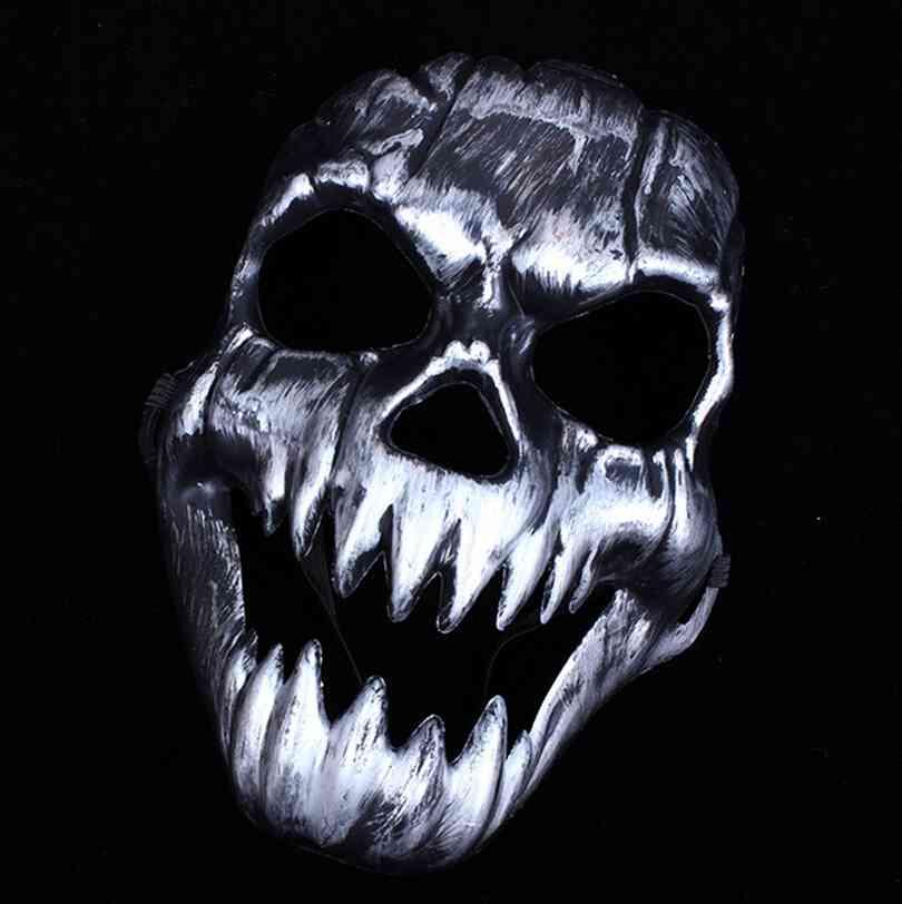 US $2.45 10% OFF|Baru Pesta Topeng Menakutkan Hantu Kerangka Tengkorak  Kepala Masker untuk Halloween Pesta Dekorasi Warna Perak-in Masker partai  from ...