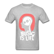Luxury Brand Men t-shirt Custom Made Hip Hop Unique Print Music is Life Mens T Shirts Clothing Print Tops Tee Shirt hip hop