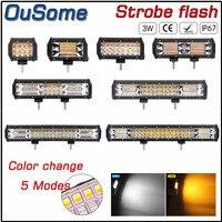 4 5.56.5 8.5 13.5 14.5 18 20 36W 72W 144W 180W 216W 252W 288W amber strobe flash color change offroad LED light bar work