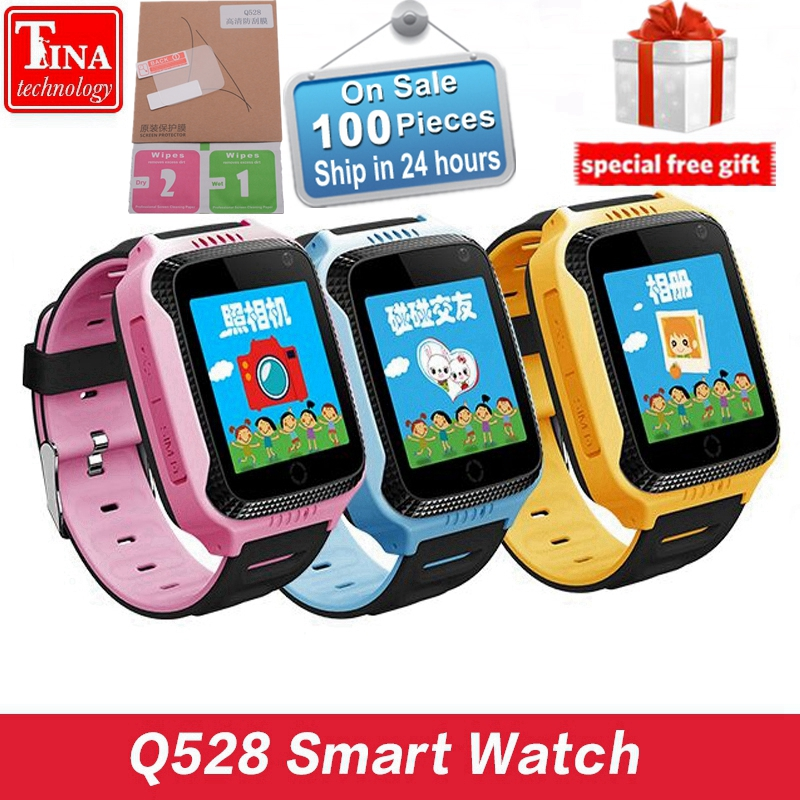 Original Q528 Y21 Touch Screen Kids GPS Watch with Camera Lighting Smart Watch Sleep Monitor GPS