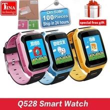 Оригинальный Q528 Y21 Сенсорный экран Дети GPS часы с Камера Освещение Смарт-часы сна Мониторы GPS sos детские часы PK dz09