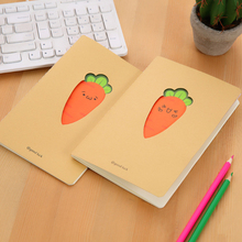 1pc/lot Notebook Carrot Kraft Paper Cute Notebook And Journals Kawaii Stationery Diary For School And Office Supply Student Gift цена 2017