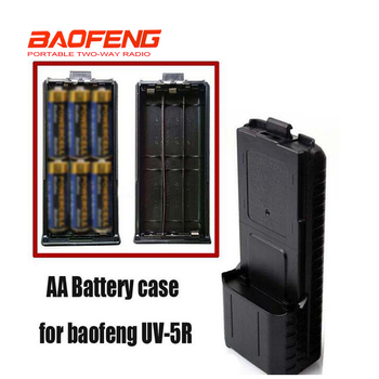 New Black BAOFENG AAX6 Extended Battery Case For Portable Radio Two Way Transceiver Walkie Talkie Baofeng UV-5R UV-5RE TYT TH-F8