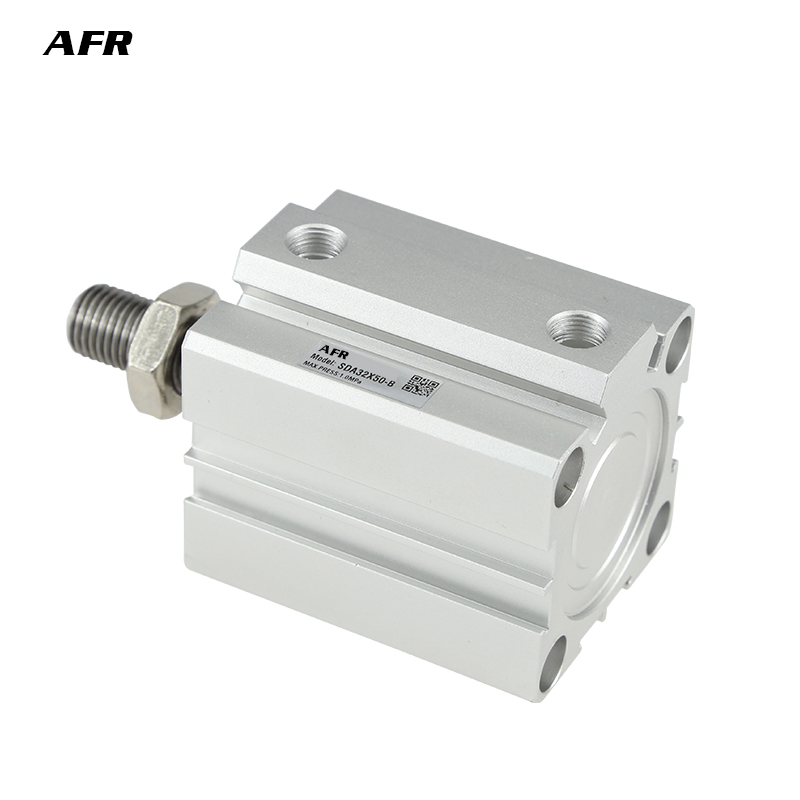 SDA12 With magent Air actuator compact double acting pneumatic cylinder Female male thread bore 12mm stroke SDA12X5 10 20 25 30S in Pneumatic Parts from Home Improvement