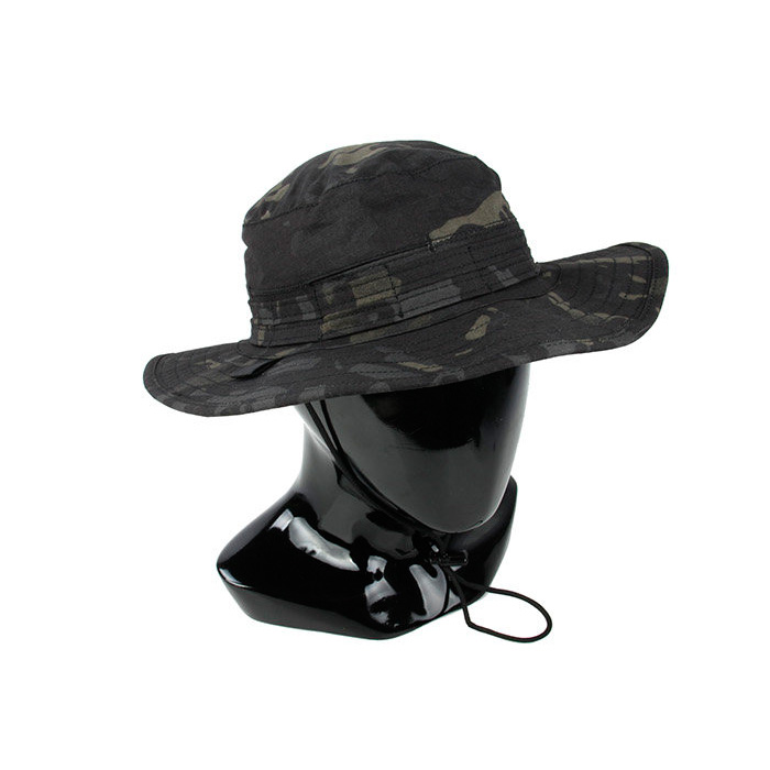 Multicam Black Men s Tactical Bucket Hat with wide brimmed edge MCBK army  Round brimmed Sun Boonies hat Outdoor Camo bucket hat-in Bucket Hats from  Apparel ... f482e683331
