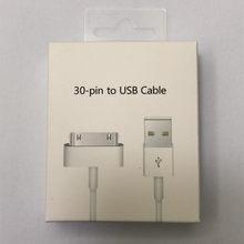10 PÇS/LOTE USB Cabo do Carregador de Dados Para iPhone 4 4S iPod Nano iPad 2 3 iPhone 30 Pin 1m Adaptador de Carregamento Cabo USB Cabo de Sincronização de Dados