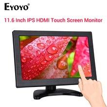 цена на EYOYO 11.6 IPS Monitor 1920*1080 Resolution Support HDMI/VGA/AV/BNC/SPEAK Input for PC TV CCTV Camera Security