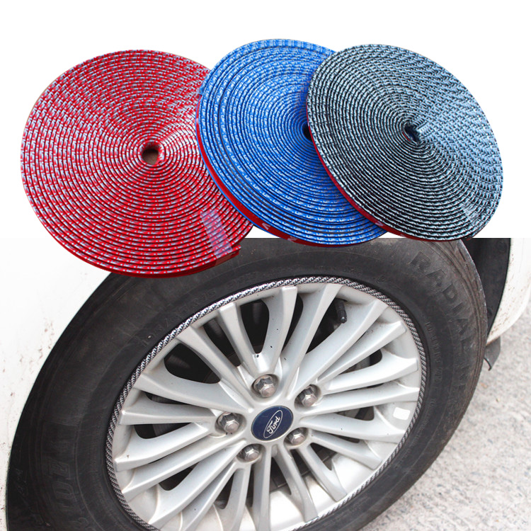RIMSAVERS Self Adhesive Protective Trim Strips for Alloy Wheels color RED