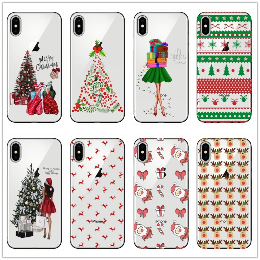 Christmas Tree Phone Case For iPhone 5 5S SE 6 6S 8 8Plus 7 7Plus ...