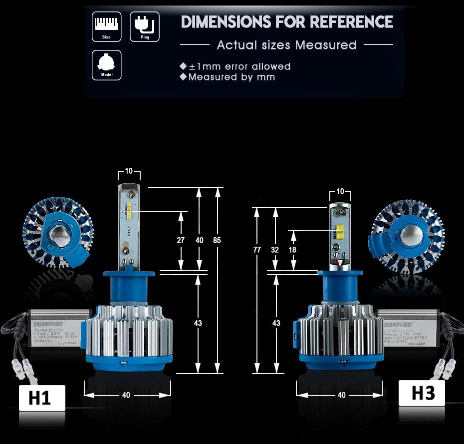 T1 LED CAR HEADLIGHT H4 H7 H11 H1 (8)