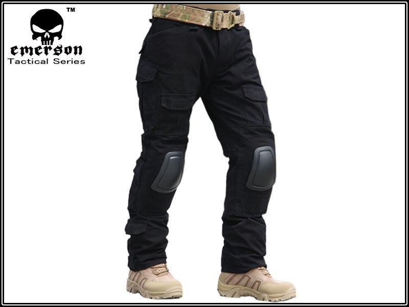 ФОТО EMES Military army pants Series G2 Combat Pants With Knee Pads ( Black ) (Size optional) tactical pants M,L,XL,XXL