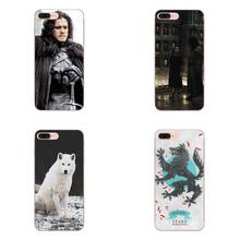 White Wolf House Stark Game Of Throne For Galaxy Alpha Core Note 2 3 4 S2 A10 A20 A20E A30 A40 A50 A60 A70 M10 M20 M30