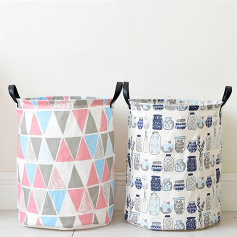 Waterproof fabric Storage baskets boxes laundry Basket Clothing wardrobe Folding Buckets Home Organization Home Decoration