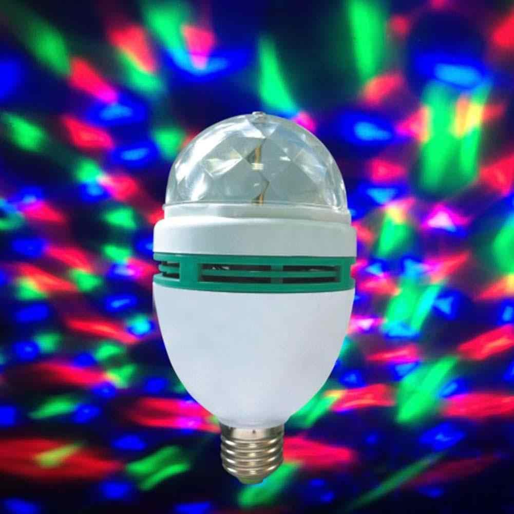 B22 3W di Cristallo di RGB LED Della Fase di Rotazione della Luce di Colore Lampadina Del Partito Della Discoteca Bar 96 V-240 V della discoteca luce della sfera di effetti di illuminazione led par APJ