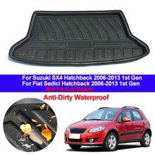 Коврик для багажника автомобиля, коврик-поднос для багажника, защитный коврик, напольные коврики для Suzuki SX4 Fiat Sedici Hatchback 2006 - 2013 1-го поколения