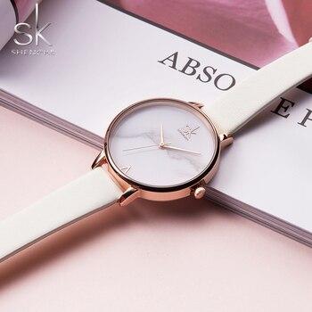 Shengke de las señoras de moda elegante reloj de mujer reloj de cuarzo de  mujer ca81e311857d