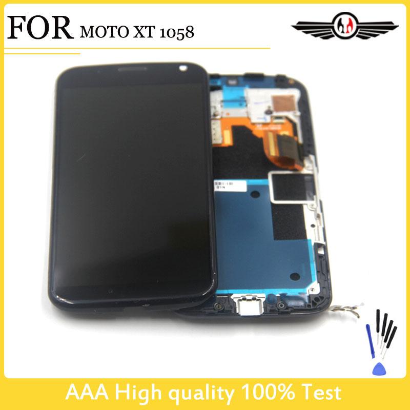 Prix pour LCD Pour Motorola Pour Moto X XT1052 XT1053 XT1056 XT1058 XT1060 Écran LCD Affichage Tactile Digitizer Assemblée + Cadre Nouveau