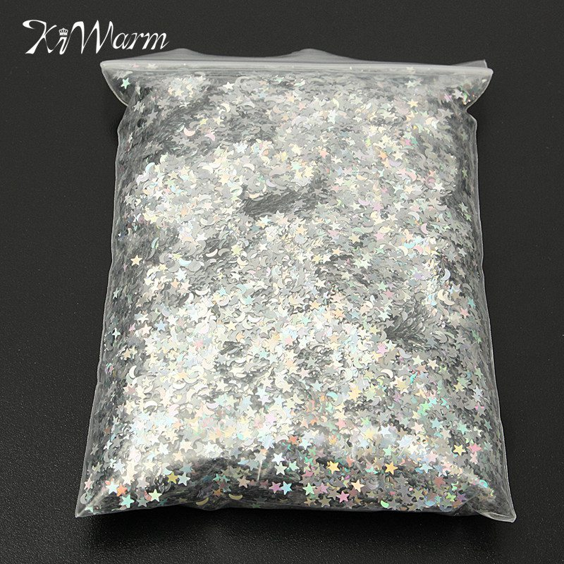 Glitter Emulsion Paint Holographic Stars Amp Moons Silver