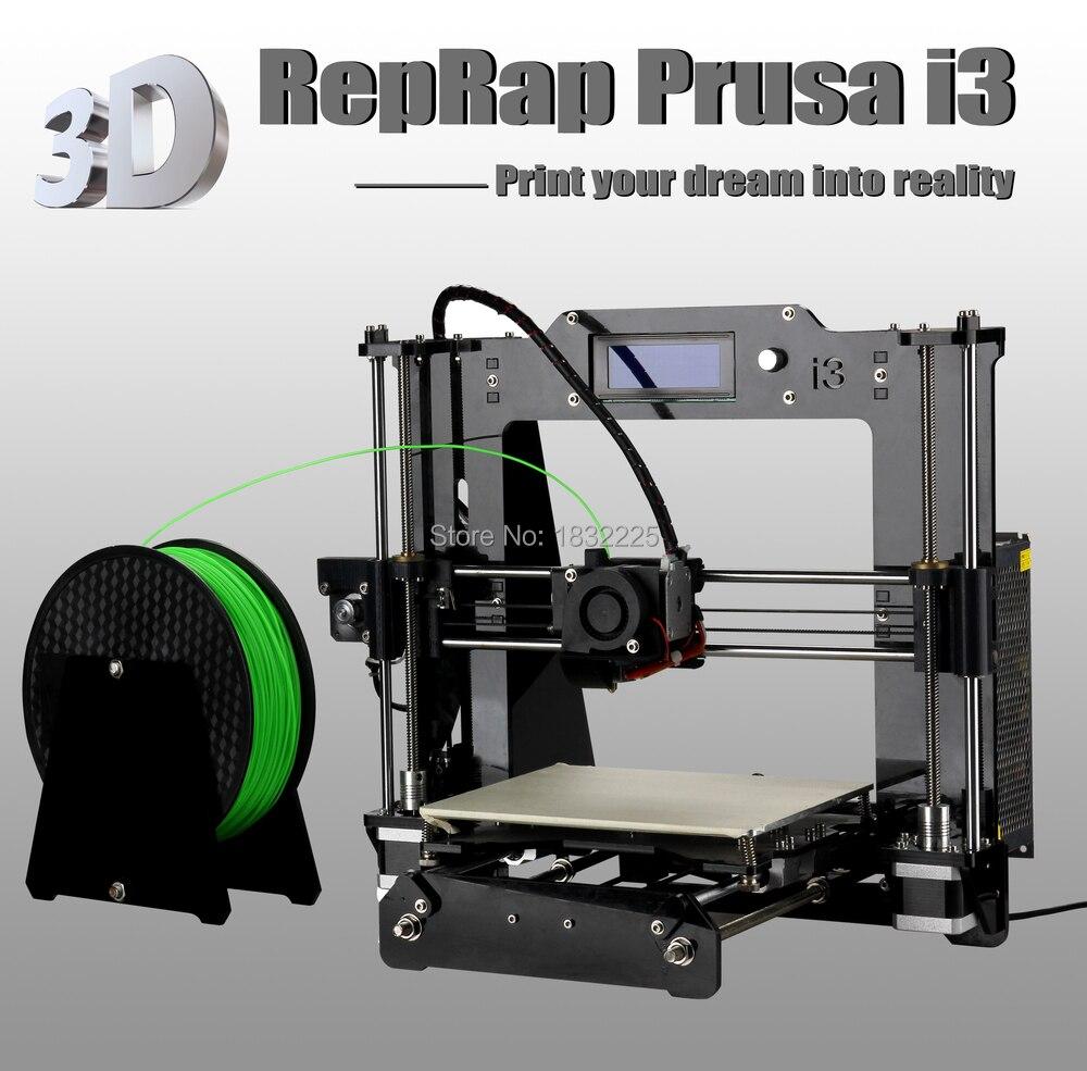 Auto nivelación imprimante 3d diy 3d kit de impresora reprap prusa i3 con 1 roll