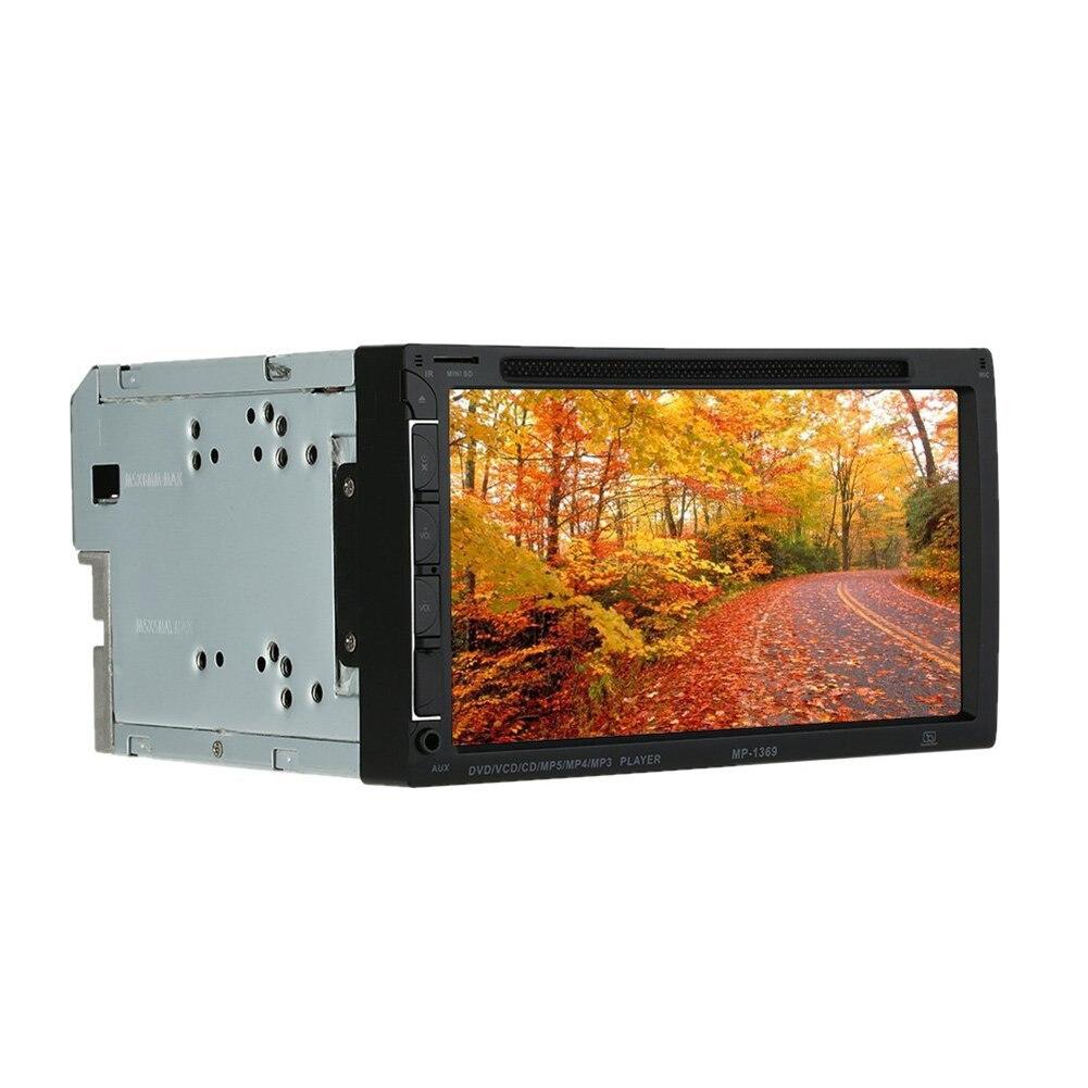 7 дюймов Универсальный 2 DIN стерео головное устройство dvd-плеер HD мультимедиа Bluetooth SD USB Радио развлечения